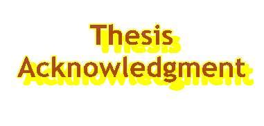 Acknowledgement in thesis for parents